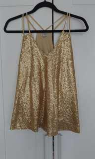 Gold Sequin shirt from Guess