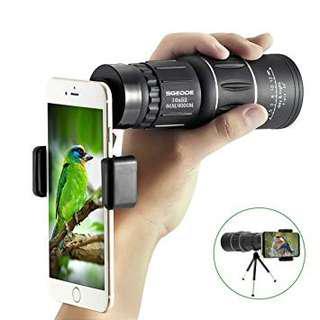 Monocular telescope for handphone