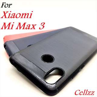 Mi Max 3 Carbon Fiber Rugged Armor TPU Case