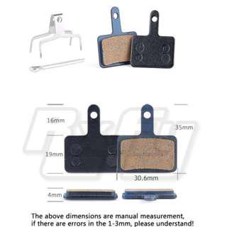 30.6*35mm Bike Bicycle scooter escooter ebike Disc Brake Pads Resin MTB blocks for SHIMANO Deore Tektro giant cycling accessories bicycle parts
