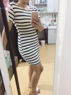 Basic Stripes BodyCon Dress