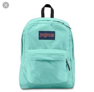 Turquoise JansPort backpack