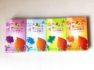 長榮航空 Eva Air 「花現台北」紀念撲克牌 一套四盒