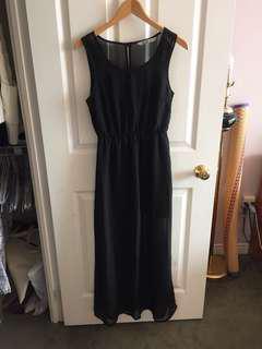 Bluenotes women's black summer sun dress