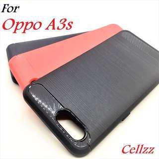 Oppo A3s Carbon Fiber Rugged Armor TPU Case