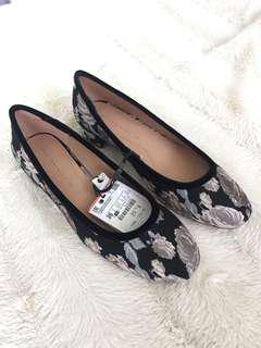 Zara Floral Ballet Shoes