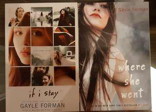 If I Stay (#1) and Where She Went (#2)