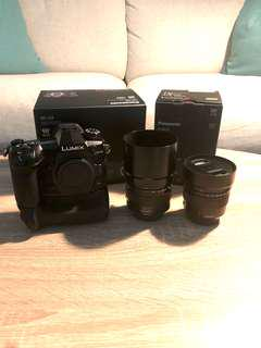 LUMIX G9 + Battery Grip + Leica 12mm F1.4 + Leica 42mm F1.2