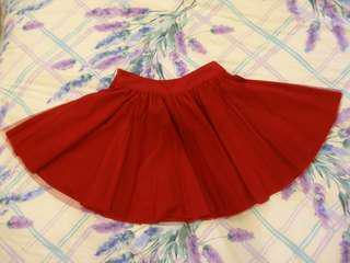 """🚚 """"轉賣""""露比午茶紅色短紗裙"""