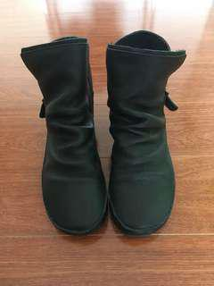 Vintage Japanese leather ankle boots