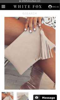 Whitefox boutique clutch bag nude