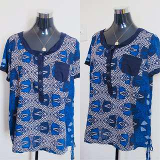 Next Blue Printed Blouse