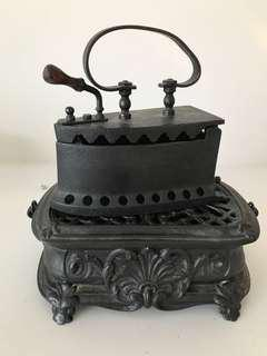 Vintage Charcoal Cast Iron with Stand