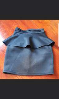 black skirt peplum