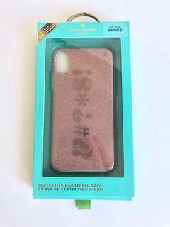 Kate Spade  New York Rose Gold Flexible Glitter Case for iPhone X