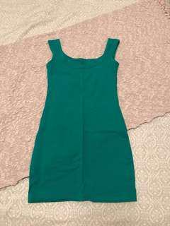 Green bodycon dress