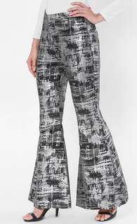 Reduced! BNWT Aere Hope Nova Bell-Bottom Jacquard Pants