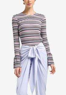 Reduced! Lubna Striped Pleated Top