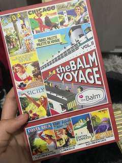 The Balm Voyage Travel Palette Eyeshadow Lipstick Highlighter Bronzer Blush