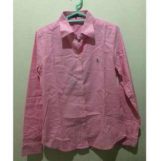 Kemeja POLO Pink Polo Indonesia size M slim fit
