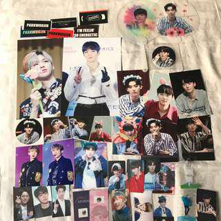wanna one fansite items