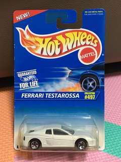 Hotwheels Ferrari Testarossa White