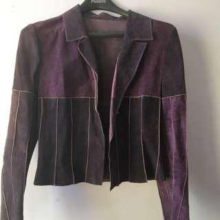 Vintage purple suede jacket (Small)