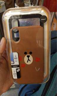 LINE friends BROWN iPhoneX case