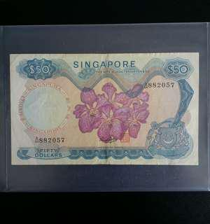 SG Orchid 1st Series $50 × 1pc (A/44 88....)