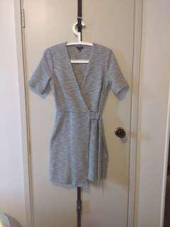 Topshop crossover mini-dress (size8)