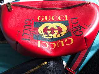 Red Gucci Waist Bag