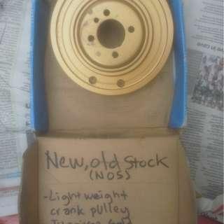 NOS(New Old Stock) lightweight crankpulley for Saga-Iswara-Satria-Wira-old Myvi