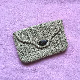 Brown Knitted Hand Bag