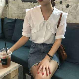🚚 韓版荷葉邊上衣#九月女裝半價
