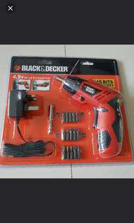 Black & Decker 4.8v Screwdriver
