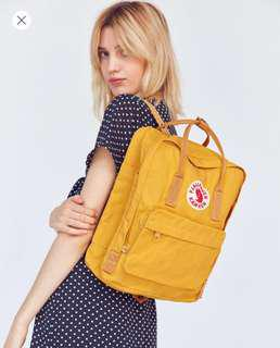 Fjallraven Kanken Warm Yellow Urban Outfitters