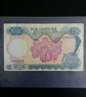 SG Orchid 1st Series $50 × 1pc