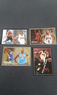 VCarter, DRose, CAnthony and DWade Panini Sticker set 2009