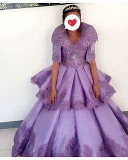 3-Piece Custom Made Evening Gown