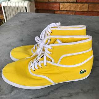 Lacoste high top sneakers