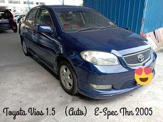 TOYOTA VIOS 1.5 (AUTO) E-SPEC,THN 2005,CAR KING‼️