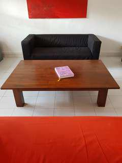 Solid teak coffee table (John Erdos)