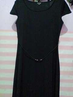 Long black dress preloved