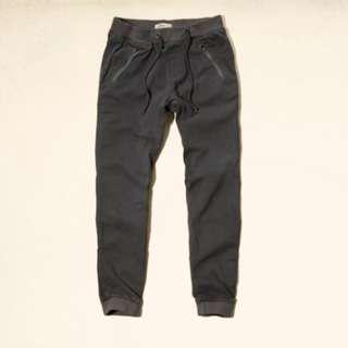 Abercrombie & Fitch Fleece Icon Joggers A&F 束腳褲 - Small