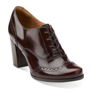 Authentic Clarks Burgundy True Leather Ankle Boots