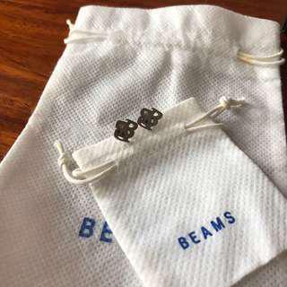 Beams Boy 925silver logo earring