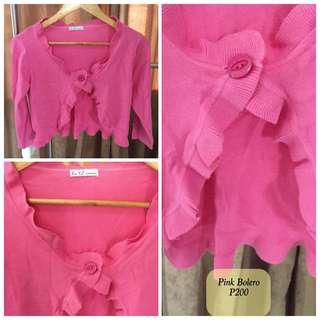 Pink BOLERO used but in Good Condition