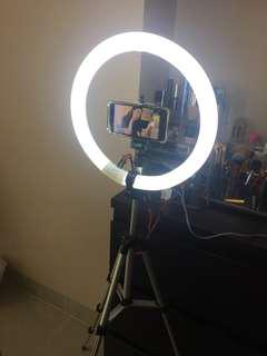 Ring Light Makeup LAMPU + TRIPOD + SARUNG