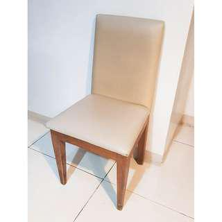 Solid hard wood chairs with padding and upholstery