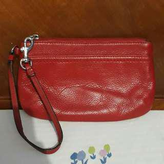 Coach leather wristlet(large)